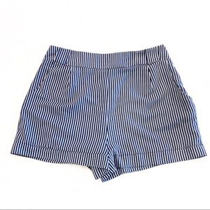 Honey Punch High-Waisted Striped Shorts